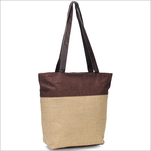 Brown Sugar Jute Natural Tote Bag