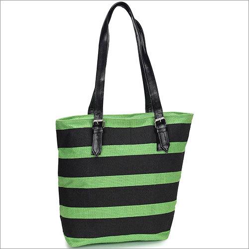 Monochrome Jute Tote Bag