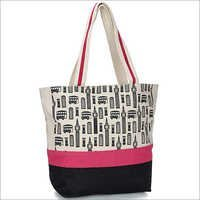London Hues Jute Tote Bag