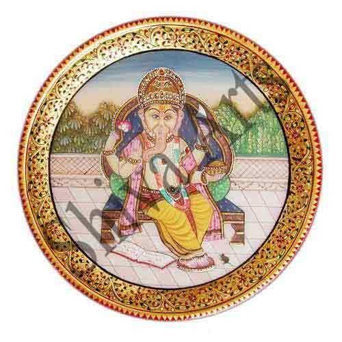 Ganesha Marble Plate