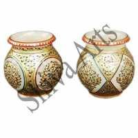 Decorative Marble Lota Full Gold