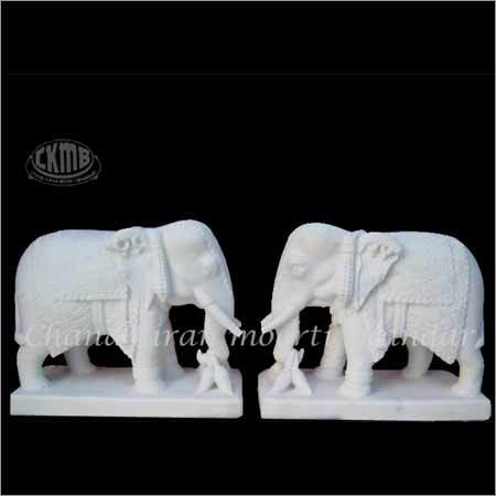 White Marble Animals Statue