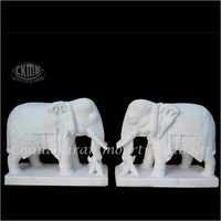 White Marble Animals Statue
