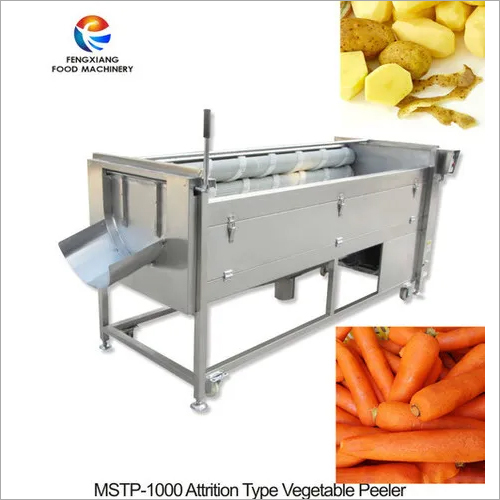 Potato washing peeling machine