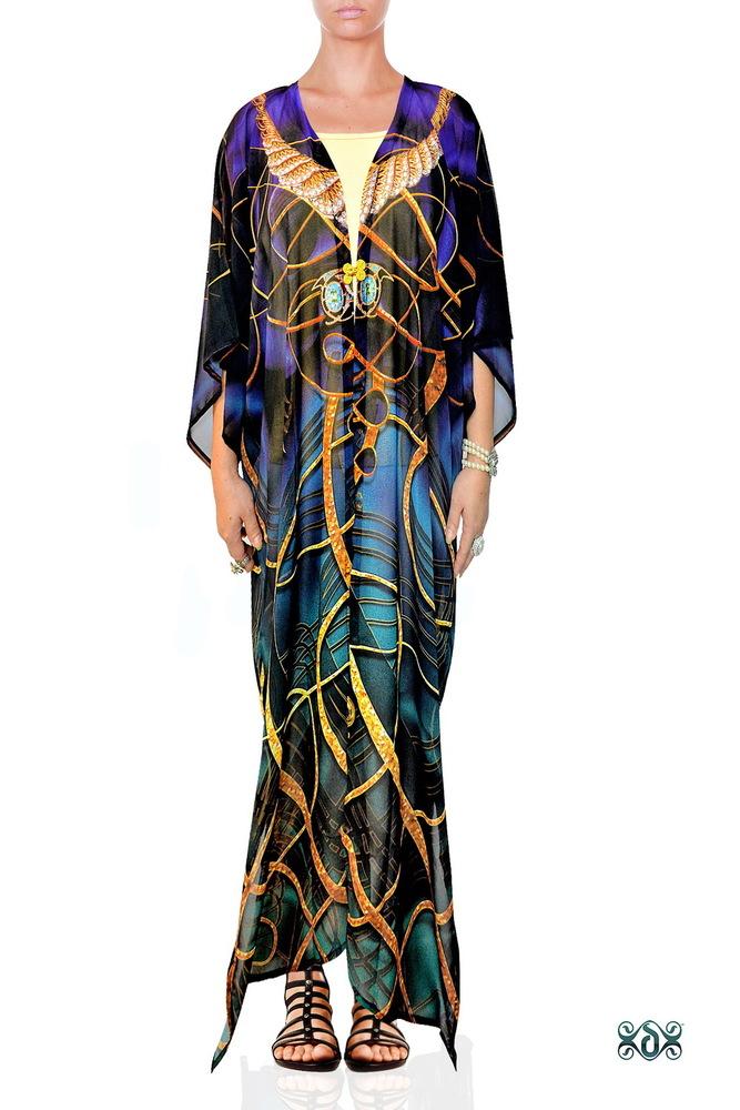 Digital Printed Long Georgette Kimono Jacket