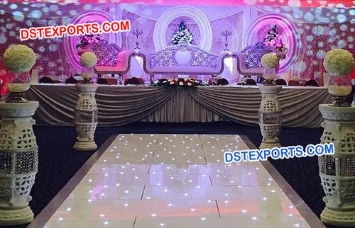 Modern Wedding Round Panel Stage