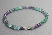 Amethyst and Appatite Gemstone Bead Bracelets