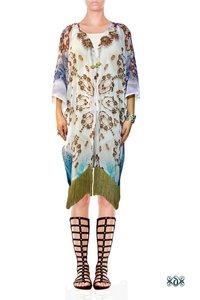 Animal Print Georgette Short Kimono Jacket