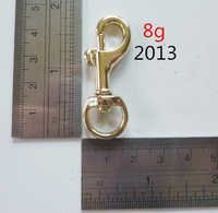 pale gold snap hooks good quality shining fitting