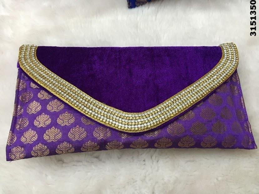 Ethnic Velvet Clutch Bag
