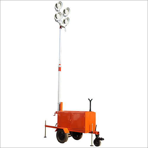 Lighting Mast Tower With Battery Bank and Invertor