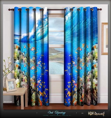 Digital Print Home Decor Room Designer Door Curtain Panels