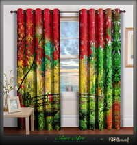 Digital Print Nature Home Furnishings Designer Door Curtain Set