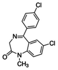 Desmethyl-4′-chlorodiazepam