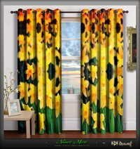 Digital Print Florals Designer Room Door Curtains Panels