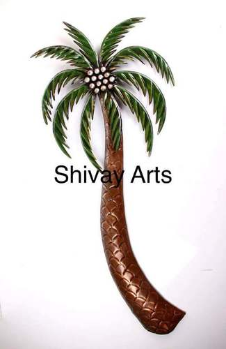 Contemporary Metal Iron Coconut Tree Wall Decor Wall Hanging