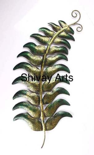 Contemporary Iron Leaf Wall Decor Wall Hanging