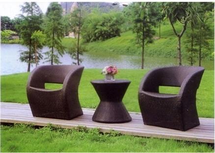 Sleek Design Wicker Coffee Set