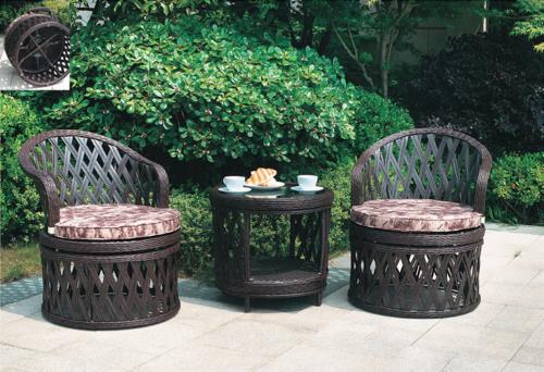 Ivory Style 3 Outdoor Wicker Coffee Set