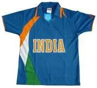 Indian Team Cricket T-Shirt Polyester