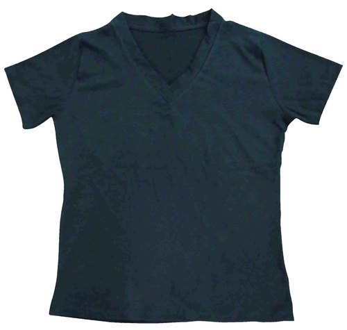 Women T-Shirt Polyester V-Neck