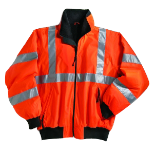 Reflective safety jacket Fluro orange