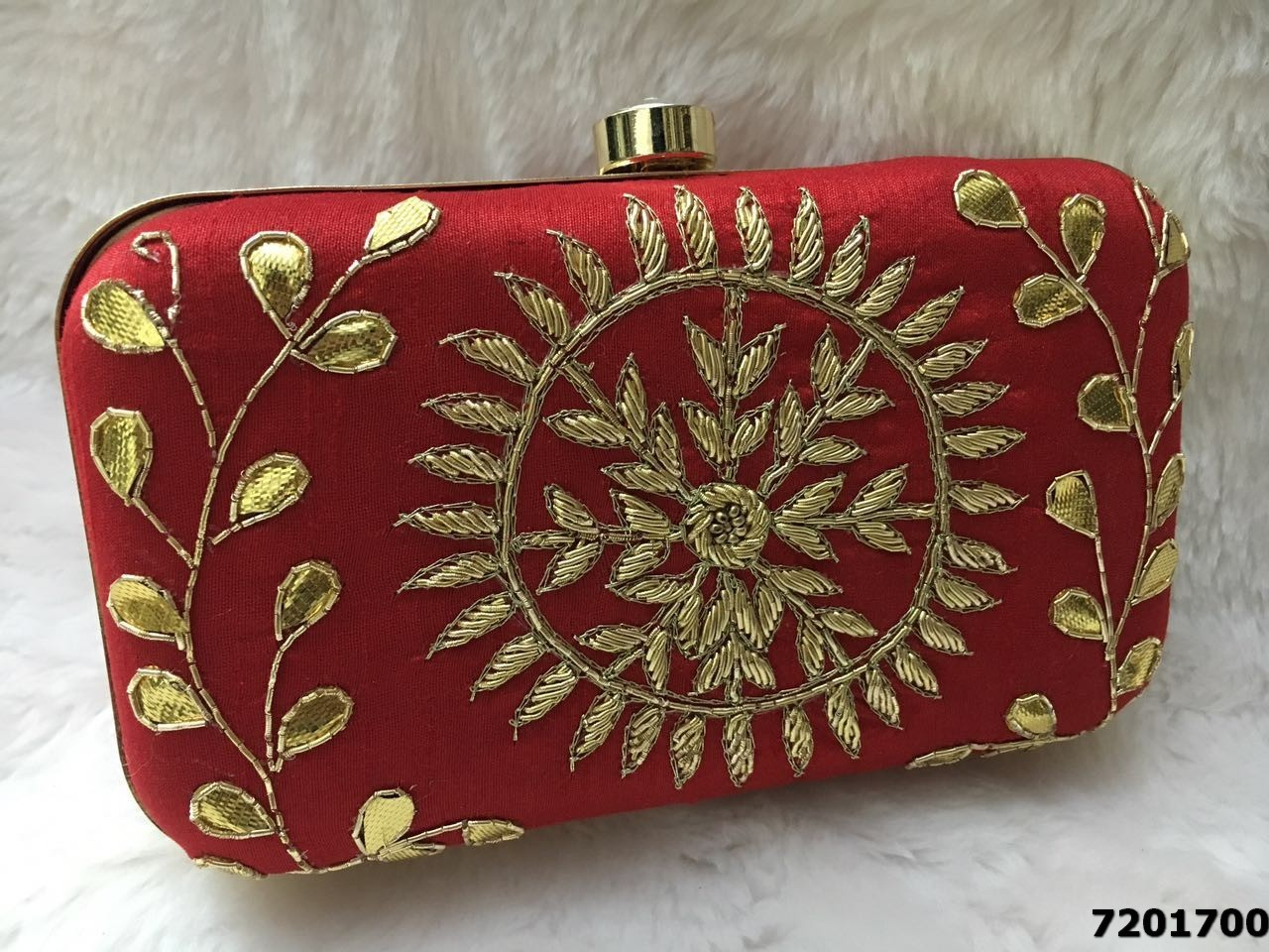 Adorable Ethnic Box Clutch