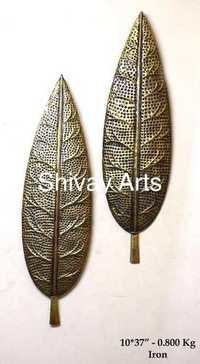 Metal Iron Leaf Wall Decor Wall Hanging