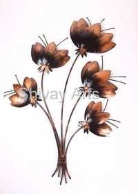 Metal Iron Handcrafted Lotus Wall Decor