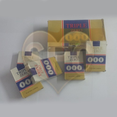 Triple Zero 000 Marked Playing Cards