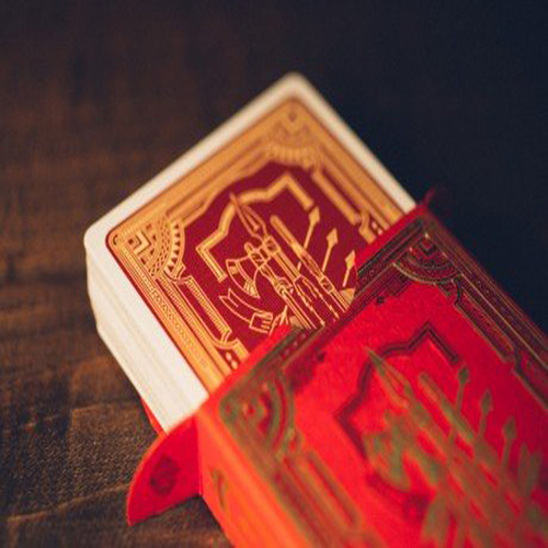 Red & Gold 555 Marked Playing Cards LQ