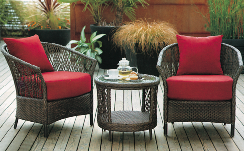 Innovative Cane Style Outdoor Wicker Coffee Set
