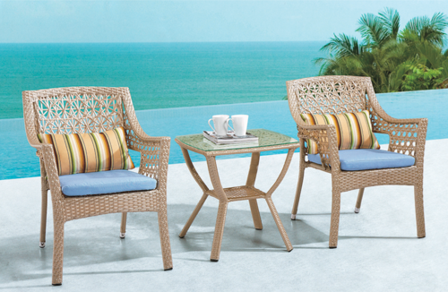 Simple Style Outdoor Wicker Coffee Set