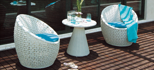 Splendid Style Outdoor Wicker Coffee Set