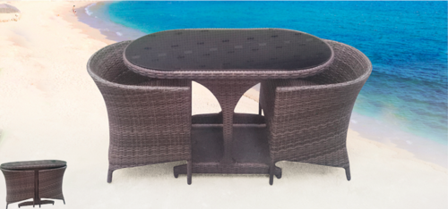 Compact Style Outdoor Wicker Coffee Set