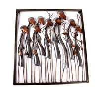 Contemporary Metal Iron Tribal Family Wall Decor Wall Hanging