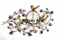 Metal Handcrafted Beautiful Tree Wall Clock / Wall Hanging