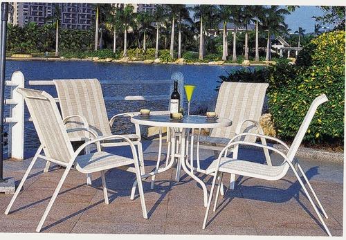 Beach Style Wicker Outdoor Coffee Set
