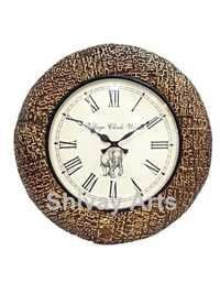 Beautiful Handcrafted Wooden & Brass Wall Clock / Wall Hanging