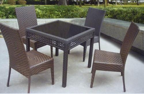 Back Comfort Style Wicker Outdoor Coffee Set