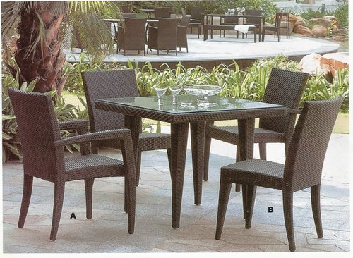 Full Back Support Wicker Coffee Sets
