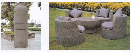 Compact Style Wicker Outdoor Coffee Set