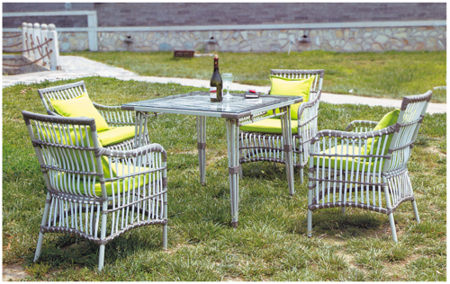 Wicker Outdoor Coffee Set