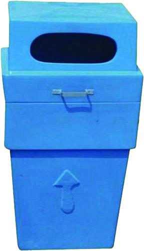Post Office Fiber Big Dustbin