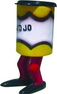 Leg Bin Fiber Small Dustbin