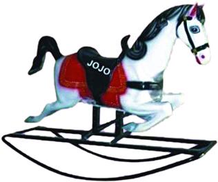 Horse Big Fiber Rocker with Iron Frame