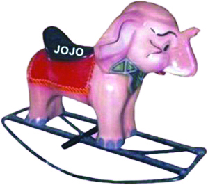 Elephant Big Rocker with Iron Frame