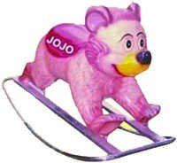 Polo Bear Big Fiber Rocker with Iron Frame
