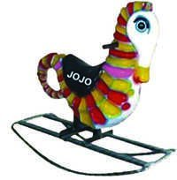 Sea Horse Big Fiber Rocker with Iron Frame