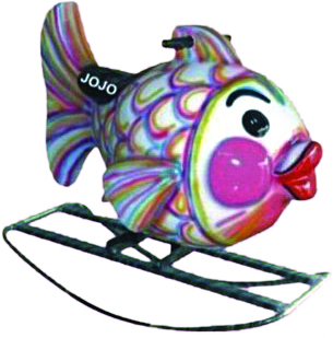 Sea Fish Big Fiber Rocker with Iron Frame
